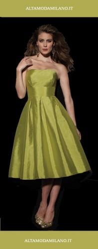 abiti da sposa corti,abiti sposa colorati,abito sposa verde,