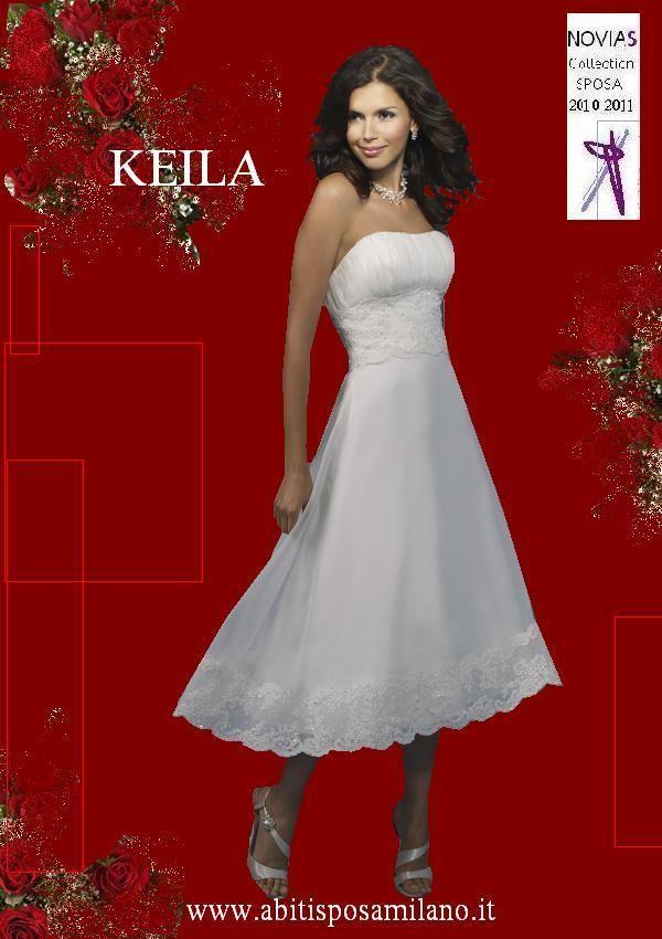 Poiché con l'abito da sposa corto viene messa in risalto la ...
