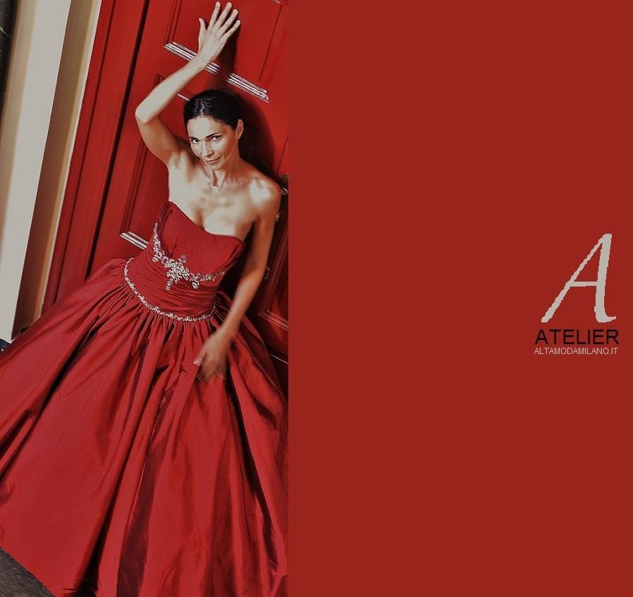 1fc400303a46 Abiti da sposa rossi RED Valentino hand made ALTAMODAMILANO.IT ...