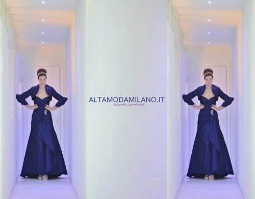 abiti sposa colorati,sposa 2014,vestiti da sposa blu