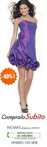 abiti on line cerimonia donna e sposa corto colorato LILLA.JPG