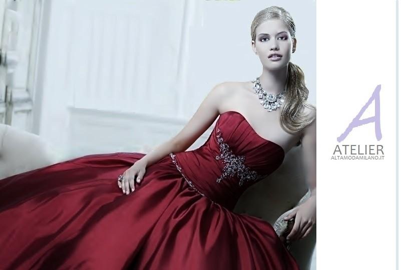 huge discount 66323 f6ee1 Abiti da sposa 2014 vestiti eleganti rossi STILE glamour ...