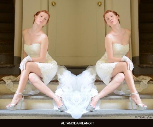 abito sposa premaman corto 2013