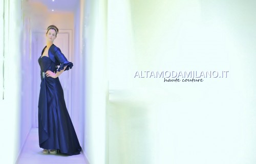 abiti sposa colorati blu