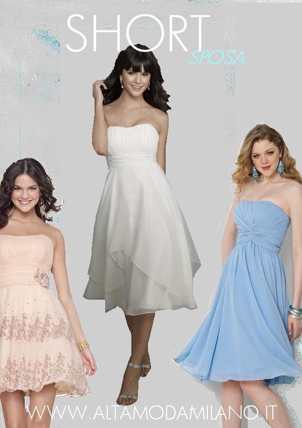 2f97ef6a82fa abiti sposa CORTI milano NOVIAS rosa-azzurro.avorio-rosso-.JPG. abiti sposa  corti premaman