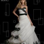 Abiti sposa colorati BIANCO e NERO 2012